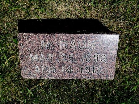 RAUN, M - Cherokee County, Iowa | M RAUN
