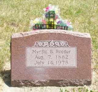 REEDER, MYRTLE B. - Cherokee County, Iowa   MYRTLE B. REEDER