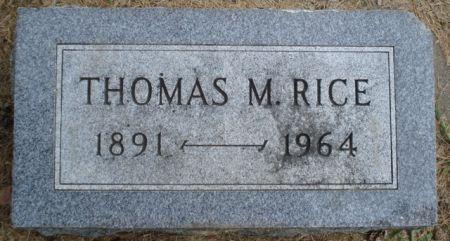 RICE, THOMAS M. - Cherokee County, Iowa   THOMAS M. RICE