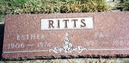 RITTS, PAUL & ESTHER - Cherokee County, Iowa | PAUL & ESTHER RITTS