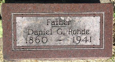 ROHDE, DANIEL G. - Cherokee County, Iowa   DANIEL G. ROHDE