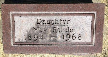 ROHDE, MAY - Cherokee County, Iowa | MAY ROHDE