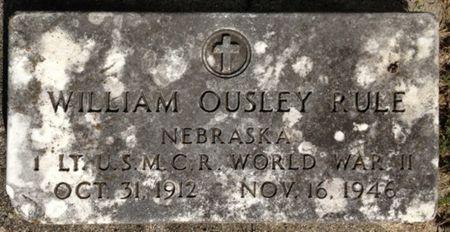 RULE, WILLIAM OUSLEY - Cherokee County, Iowa | WILLIAM OUSLEY RULE