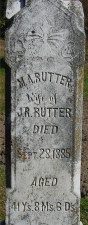 RUTTER, M. A. - Cherokee County, Iowa | M. A. RUTTER