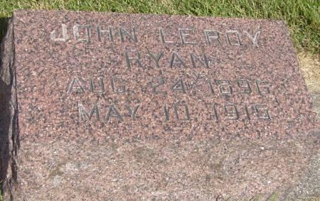 RYAN, JOHN LEROY - Cherokee County, Iowa | JOHN LEROY RYAN