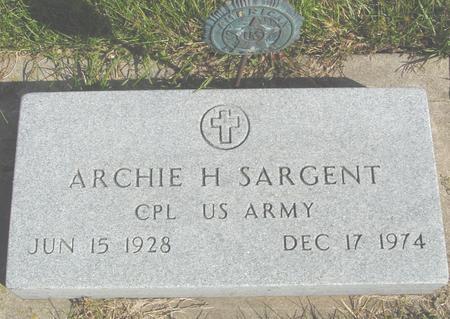 SARGENT, ARCHIE H. - Cherokee County, Iowa | ARCHIE H. SARGENT