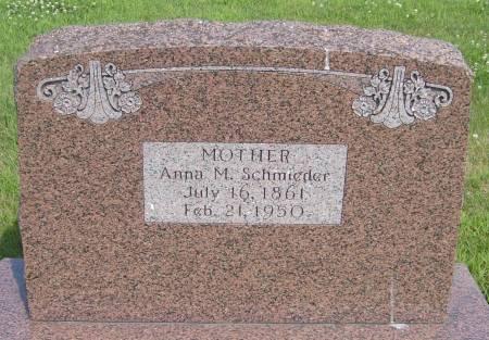SCHMIEDER, ANNA M. - Cherokee County, Iowa   ANNA M. SCHMIEDER