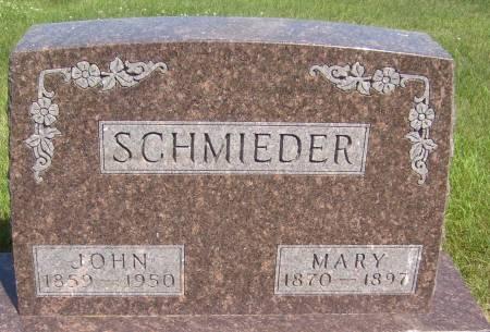 SCHMIEDER, MARY - Cherokee County, Iowa | MARY SCHMIEDER