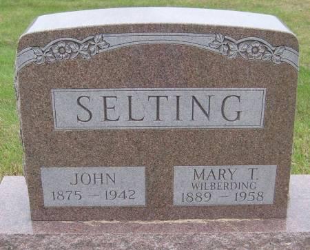 SELTING, JOHN - Cherokee County, Iowa   JOHN SELTING