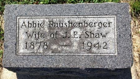 RAUSHENBERGER SHAW, ABBIE - Cherokee County, Iowa   ABBIE RAUSHENBERGER SHAW