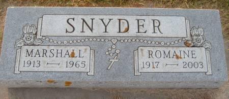 SNYDER, J. MARSHALL - Cherokee County, Iowa   J. MARSHALL SNYDER