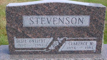 STEVENSON, CLARENCE & ELSIE - Cherokee County, Iowa | CLARENCE & ELSIE STEVENSON
