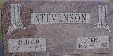 STEVENSON, FOREST & MILDRED - Cherokee County, Iowa | FOREST & MILDRED STEVENSON