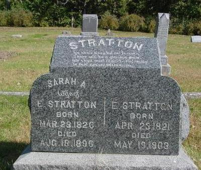 STRATTON, E. & SARAH - Cherokee County, Iowa   E. & SARAH STRATTON