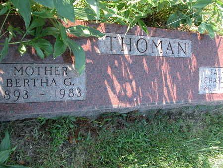 SPINHARNEY THOMAN, BERTHA - Cherokee County, Iowa   BERTHA SPINHARNEY THOMAN
