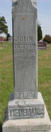 TIEDEMANN, JOHN T. - Cherokee County, Iowa | JOHN T. TIEDEMANN