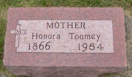TOOMEY, HONORA - Cherokee County, Iowa   HONORA TOOMEY