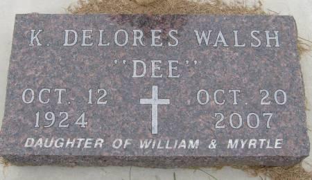 WALSH, K. DELORES - Cherokee County, Iowa | K. DELORES WALSH