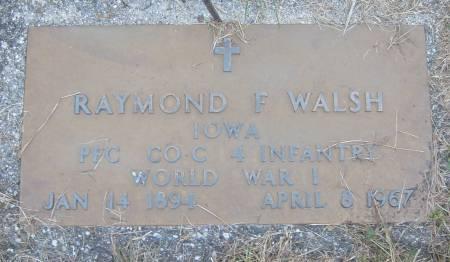 WALSH, RAYMOND F. - Cherokee County, Iowa | RAYMOND F. WALSH