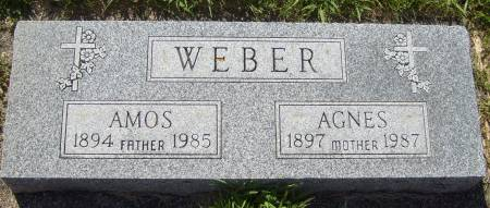 WEBER, AGNES - Cherokee County, Iowa   AGNES WEBER