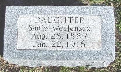 WESTENSEE, SADIE - Cherokee County, Iowa | SADIE WESTENSEE