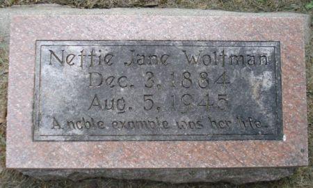 WOLTMAN, NETTIE JANE - Cherokee County, Iowa | NETTIE JANE WOLTMAN