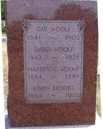 WOOLF, DAY & SARAH - Cherokee County, Iowa   DAY & SARAH WOOLF
