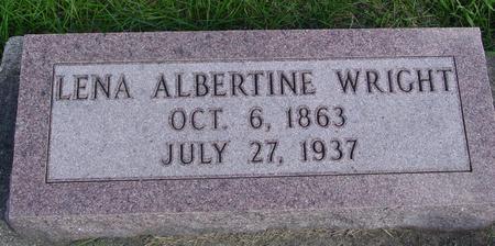 WRIGHT, LENA ALBERTINE - Cherokee County, Iowa | LENA ALBERTINE WRIGHT