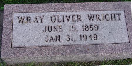 WRIGHT, WRAY OLIVER - Cherokee County, Iowa   WRAY OLIVER WRIGHT