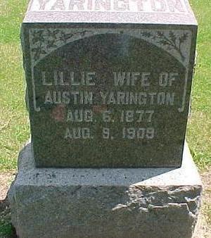 YARINGTON, LILLIE - Cherokee County, Iowa | LILLIE YARINGTON