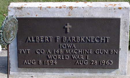 BARBKNECHT, ALBERT - Chickasaw County, Iowa | ALBERT BARBKNECHT