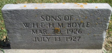 BOYLE, INFANT SON - Chickasaw County, Iowa | INFANT SON BOYLE