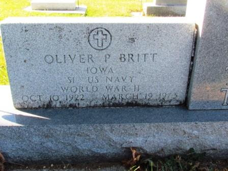 BRITT, OLIVER P - Chickasaw County, Iowa | OLIVER P BRITT