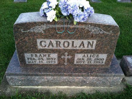 CAROLAN, ALICE - Chickasaw County, Iowa | ALICE CAROLAN