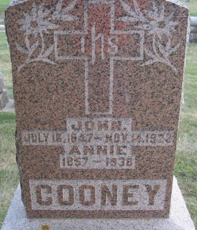 COONEY, ANNIE - Chickasaw County, Iowa | ANNIE COONEY