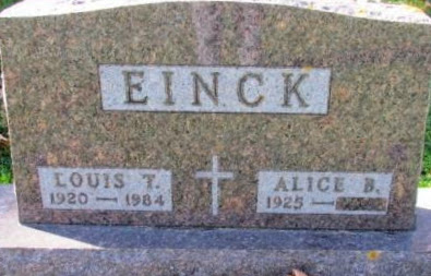 EINCK, ALICE B - Chickasaw County, Iowa | ALICE B EINCK