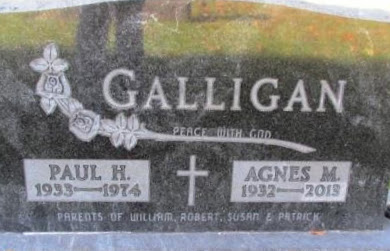GALLIGAN, AGNES M - Chickasaw County, Iowa | AGNES M GALLIGAN