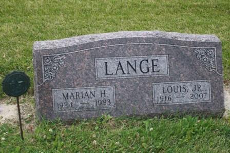 LANGE, LOUIS KIETH, JR - Chickasaw County, Iowa   LOUIS KIETH, JR LANGE