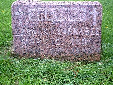LARRABEE, ERNEST - Chickasaw County, Iowa   ERNEST LARRABEE