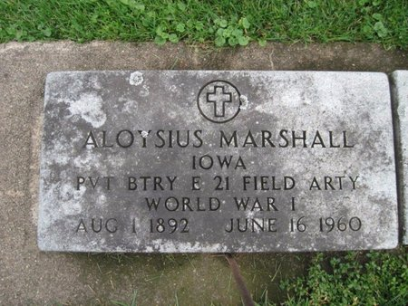 MARSHALL, ALOYSIUS - Chickasaw County, Iowa | ALOYSIUS MARSHALL
