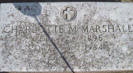 MARSHALL, CHARLOTTE M. - Chickasaw County, Iowa   CHARLOTTE M. MARSHALL