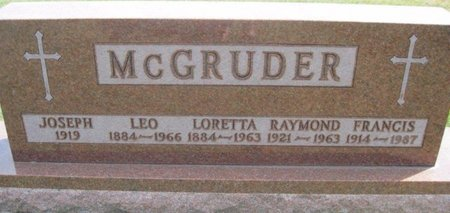MCGRUDER, LEO - Chickasaw County, Iowa | LEO MCGRUDER