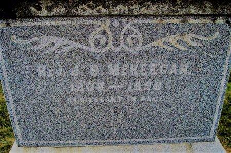 MCKEEGAN, REV. J. S. - Chickasaw County, Iowa | REV. J. S. MCKEEGAN