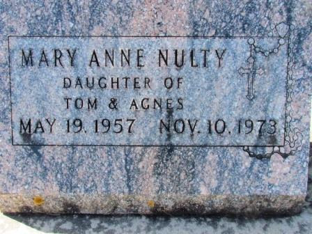 NULTY, MARY ANNE - Chickasaw County, Iowa | MARY ANNE NULTY