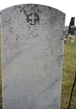 ROETHLER, FRANK ( FRANCIS XAVAIR) - Chickasaw County, Iowa | FRANK ( FRANCIS XAVAIR) ROETHLER