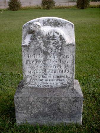 SCHRODER, WILLIE - Chickasaw County, Iowa | WILLIE SCHRODER