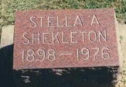 SHERIDAN SHEKLETON, STELLA A. - Chickasaw County, Iowa | STELLA A. SHERIDAN SHEKLETON