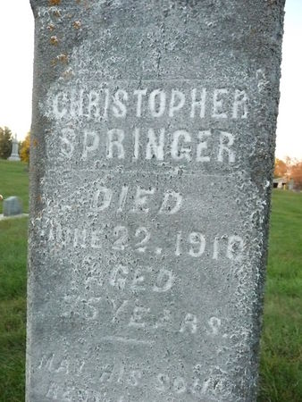 SPRINGER, CHRISTOPHER - Chickasaw County, Iowa | CHRISTOPHER SPRINGER