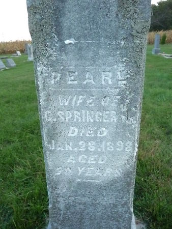 SPRINGER, PEARL - Chickasaw County, Iowa | PEARL SPRINGER