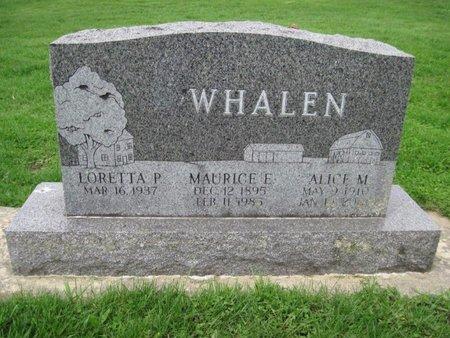 WHALEN, ALICE M - Chickasaw County, Iowa | ALICE M WHALEN